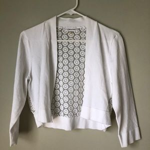 White cardigan from CK